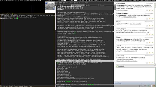 A screenshot of my cwm setup